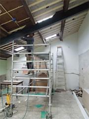 Stand van zaken verbouwing voormalig PAV-lokaal in De Groene Luiken - juni 2014