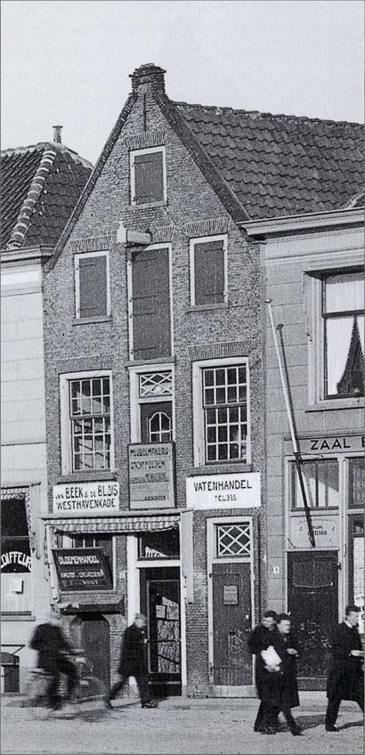 Pand Oosthavenkade 8 in de 30er jaren
