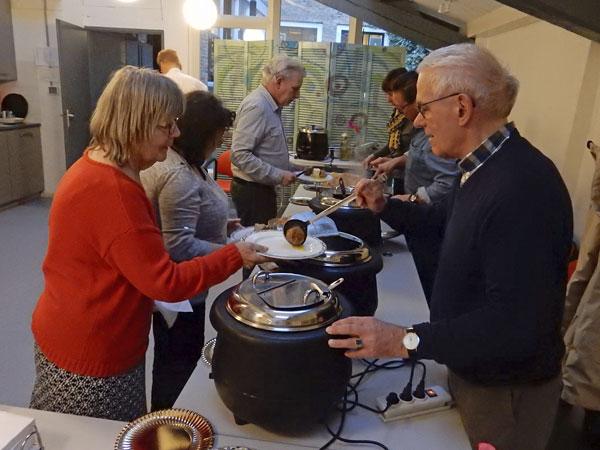 9 maart 2019 - Diner voor gasten bij het 25-jarig jubileum van De Groene Luiken - Vlaardingen