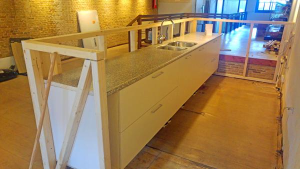 Verbouwing in De Groene Luiken van de bar - juni 2019